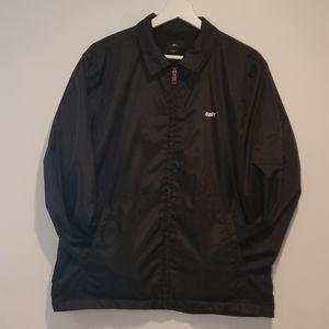 OBEY Logo nylon fleece lined lightweight jacket